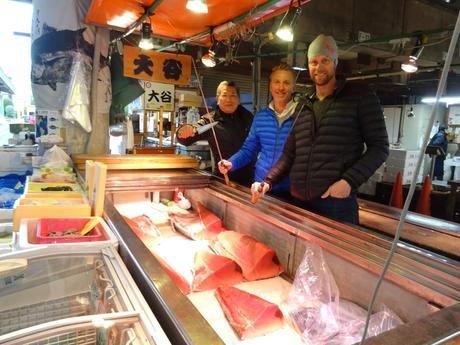 See a real local fish market up close and personal in Kita-Senju!